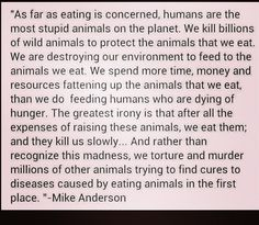 "Vegetarian/veganism quote. I want to print this on notecards and hand it out when people ask how I ""survive"" without meat."