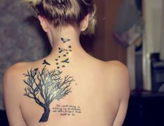 Bird tattoo - 50 Lovely Bird Tattoo Designs <3 !