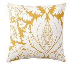 Damask Print Pillow Cover