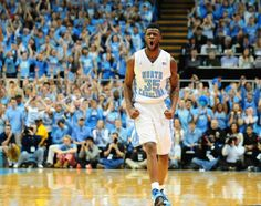 UNC forward Reggie Bullock (35) reacts to a play during the North Carolina Tar Heels vs. NC State Wolfpack NCAA basketball game, Saturday, February 23, 2013 in Chapel Hill, NC.