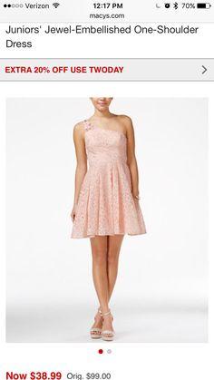 248b56e9f0b Sequin Hearts Juniors  Jewel-Embellished One-Shoulder Dress