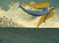 Alas y olas Pablo Albo y Pablo Auladell Mermaid Song, Mermaid Art, Miguel Angel, Art And Illustration, Pablo Auladell, Edward Burne Jones, Sea Creatures, Faeries, Art Forms