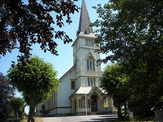 Grimstad Norway | Grimstad church | Grimstad church was built in 1880. With it ...