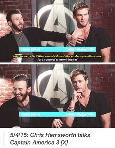 Hahaha Chris you will get in trouble by MARVEL if you keep giving out spoilers likeThat . BAD Chris BAD  !!!