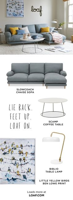 This beauty is a sofa for sitting in rather than on. And for putting your feet up rather than down. Living Room Blinds, Living Room Carpet, Living Room Grey, Living Room Sets, Comfy Sofa, Living Room On A Budget, Curtains With Blinds, Room Colors, Interior Design