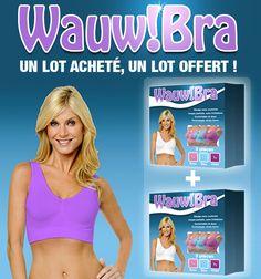 #Wauw Bra (X3), collection été, achetez 1 lot recevez 2 lots : $29.95€  Au lieu de 100.00€  #vente #flash #vente #privée