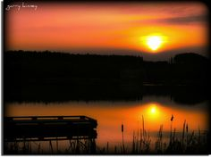 Sunset at Vernonia lake.......