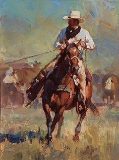 """Branding Day"" by Jason Rich (Cowboy Artist) Cowgirl And Horse, Cowboy Art, Arte Equina, West Art, Cow Girl, Le Far West, Equine Art, Horse Art, Native American Art"