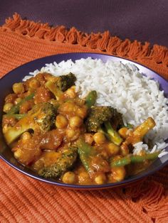 Broccoli Korma -replace cream with soy or nut milk