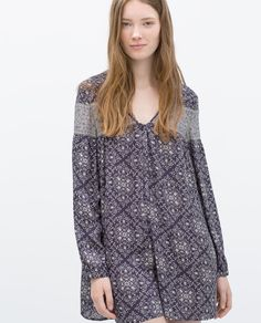Image 1 of COMBINED PRINTED JUMPSUIT from Zara
