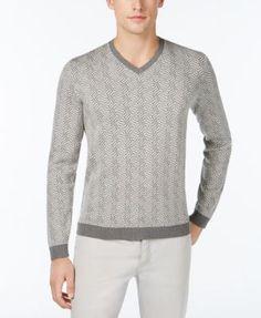CALVIN KLEIN Calvin Klein Men'S Slim-Fit Jacquard Sweater. #calvinklein #cloth # sweaters