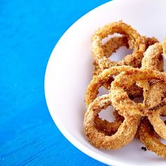 Baked Onion Rings are a fantastic healthy side dish! Baked, not fried! #onionrings #baked #recipe