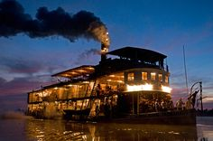 Trail-blazer of the Americas, steam Benjamin Guimarães sailed the Amazon and Mississippi, in the heart of the United States, carrying coal, cotton and wood from Minnesota to the port of New Orleans.