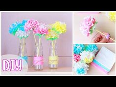 Как сделать ЦВЕТЫ ИЗ САЛФЕТОК / DIY: Paper Napkin Flowers / NataliDoma - YouTube
