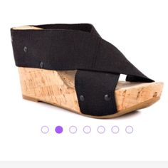 NIB Lucky Brand Platform Wedge Sandal Brand-new in box and never worn Brand platform wedge sandal in size 6 1/2. Lucky Brand Shoes Wedges
