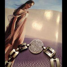Vintage Sterling Aztec Bracelet