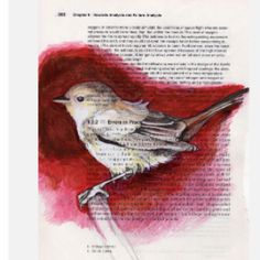 what a great idea to paint on book pages - so pretty. wish I could draw/paint!