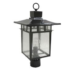 Epiphany Lighting 104914 BK One Light Cast Aluminum Outdoor Exterior Post Lantern in Black Finish