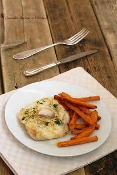 Merluzzo in padella con patate dolci - ricetta saporita e velocissima