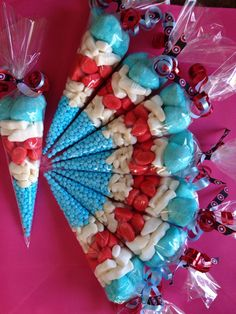 Captain America themed sweetie cones by Poppytessacrafts on Etsy