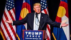 Donald J. Trump, candidato presidencial del Partido Republicano, habla e...