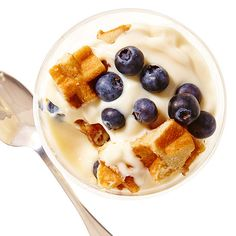 Blueberry Waffle Trifle is like a healthy version of bread pudding!