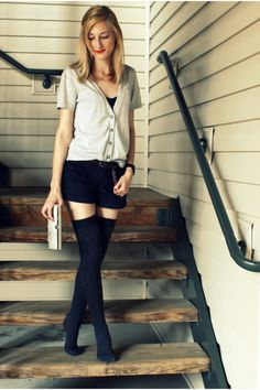 Thigh High Leggings with Shorts