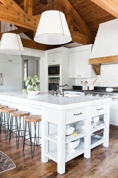 Farmhouse Kitchen with exposed beams