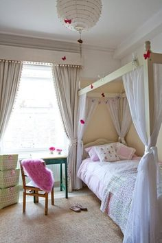 Canopy bed in kid's room