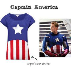 """Captain America T-Shirt"" by lashbak on Polyvore @Kara Kromer"