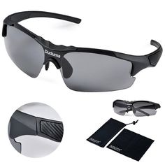 ae77249b25 Amazon.com  Duduma Polarized Casual Sports Sunglasses for Baseball Cycling  Fishing Golf Tr46 Unbreakable Multicolor Frame (black matte frame with black  ...