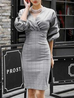 Cute Dresses, Casual Dresses, Fashion Dresses, Wrap Dresses, Formal Dresses, Midi Dresses, Classy Outfits, Stylish Outfits, Look Office