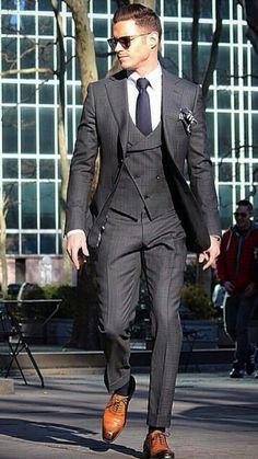 Dark Grey suit elegance