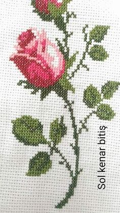 Discover thousands of images about İsim: Görüntüleme: 1328 Büyüklük: KB (Kilobyte) 123 Cross Stitch, Beaded Cross Stitch, Cross Stitch Borders, Cross Stitch Flowers, Cross Stitch Charts, Cross Stitch Designs, Cross Stitching, Cross Stitch Embroidery, Cross Stitch Patterns