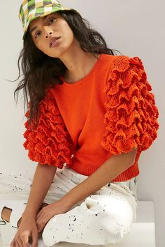 50 Fashion, Crochet Fashion, Crochet Clothes, Crochet Top, Knitwear, Pullover, Knitting, Tees, Sweaters