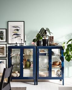 Trendy Home Inspiration Ikea Interiors Interior, Cabinet, Ikea Interior, Ikea Fabrikor, Apartment Decor, Trending Decor, Furniture Makeover, Glass Cabinet Doors, Trendy Home