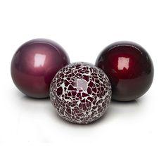 Wilko Mosaic Decorative Ceramic Balls x 3 | Purple Ornaments | | Home Co-Ordinates from Wilkinson Plus