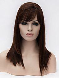 venta chica de moda de Europa y América esencial calidad de color negro peluca de pelo lacio