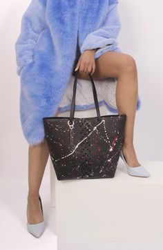 Missile studded bag and the faux furry friend. Yes, we love it! Part of the Starborn collection on studmuphin.com Luxury Bag Brands, Luxury Bags, Studded Bag, Leather Craft, Attitude, Collection, Style, Fashion, Swag