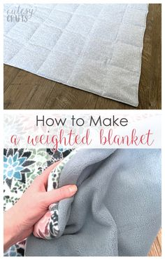 How to Make a Weighted Blanket with a Washable Cover! Learn how to make a weighted blanket with this easy tutorial. This DIY weighted blanket is fairly inexpensive, and has a washable cover! Easy Sewing Projects, Sewing Projects For Beginners, Sewing Hacks, Sewing Tutorials, Sewing Crafts, Sewing Tips, Sewing Patterns Free, Free Sewing, Making A Weighted Blanket