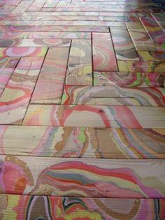 Marbled Wood Flooring