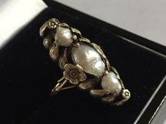 art nouveau pearl ring, c. 1900, possibly French