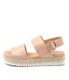 JOSEPH NUDE LEATHER by MOLLINI - at Wanted Leather Material, Off Duty, Shoe Box, Tan Leather, Joseph, How To Look Better, Espadrilles, Nude, Pairs