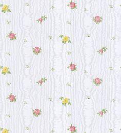 Papel pintado flores vintage pequeñas fondo de madera estilo ...