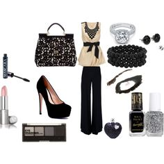 Like this for a night out. Could never wear those stilettos though.