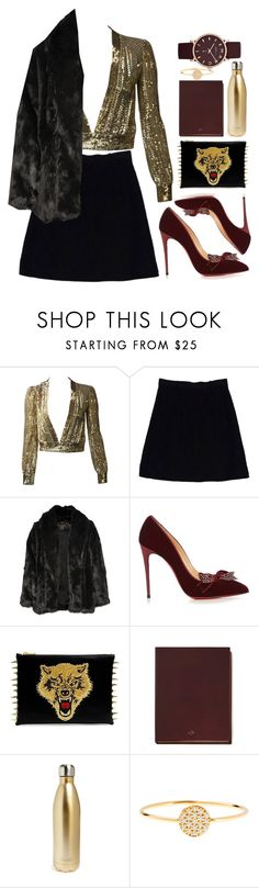 """""""STRUGGLING AT THE FEST"""" by mattressqueen ❤ liked on Polyvore featuring Nanette Lepore, Alice + Olivia, Christian Louboutin, Mulberry, S'well, Marc by Marc Jacobs and AND"""