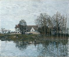 The Seine at Port-Marly. Alfred Sisley