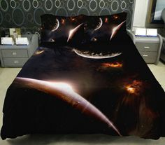 Anlye Galaxy Quilt Cover Galaxy Duvet Cover Galaxy Sheets Space Sheets Outer Space Bedding Set Bedspread with 2 Matching Pillow Covers (FULL) Linen Sheets, Linen Bedding, Duvet Cover Sets, Pillow Covers, Galaxy Bedding, Egyptian Cotton Duvet Cover, 3d Bedding Sets, Childrens Beds, Quilt Cover