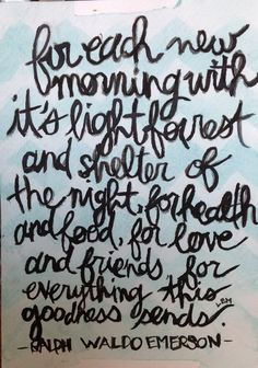 Ralph Waldo Emerson quote painting by Eliza McArthur