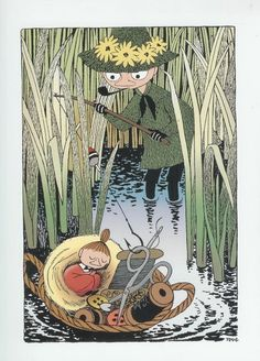 Snufkin and little My - brother and sister - Moomin Valley - Tove Jansson, Finland Tove Jansson, Little My Moomin, Les Moomins, Moomin Valley, Cecile, Children's Book Illustration, Art Inspo, In This World, Illustrators